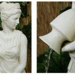 Lady Liberty Water Feature with Lights – Ivory